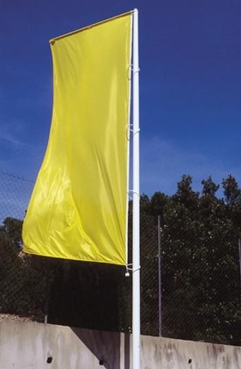mât drapeau mât avec potence et bannière