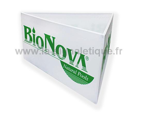 banderole publicitaire - banderole en forme de triangle