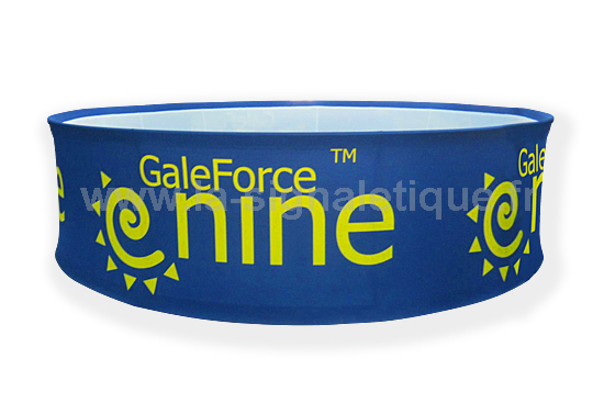 banderole publicitaire - banderole de forme circulaire