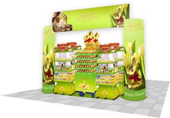 arche publicitaire - ensemble arche avec trois présentoirs pour GMS