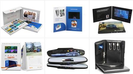 carte publicitaire - divers modèles de cartes avec écran vidéo